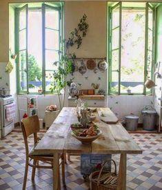 Simple Spanish Style Kitchen Apartment Decor Ideas - Page 33 of 75 Kitchen Design, Kitchen Decor, Kitchen Ideas, Kitchen Tile, Turbulence Deco, Apartment Kitchen, Apartment Design, Apartment Therapy, Country Kitchen