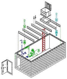 Build A Bunker 398568635756288225 - Underground shelter kit Source by Underground Living, Underground Shelter, Underground Homes, Survival Guide, Survival Skills, Survival Stuff, Building A Bunker, Doomsday Bunker, Panic Rooms