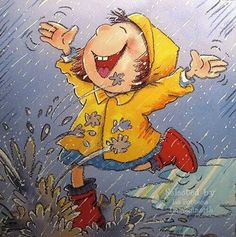 Let it rain . .. ♡ #illustrations #clip_art