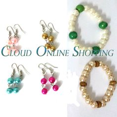 """""""Deal 315"""" 4 Pair of pearl Earring with 2 pair of bracelet Price Rs:799"""