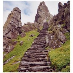 It's a bit like a fairytale / Ireland travel picture - Irish spirit, stone steps on Skellig Michael, by Lotha found on Polyvore