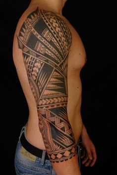 Really Nice Mens Tribal Arm #Tattoo
