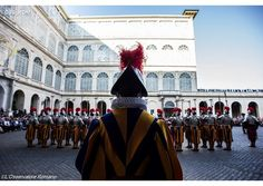 (RV) #PopeFrancis receives new Swiss Guards, families