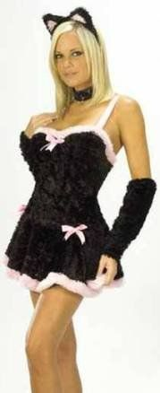 Sexy Adult Womens Halloween Costume Black Pink « Clothing Adds Anytime