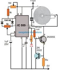 In this article we learn regarding how to design and make your own customized high current wireless battery charger circuit using wireless power transfer concept. Introduction In many of my earlier articles I have comprehensively discussed wireless power Basic Electrical Wiring, Electrical Circuit Diagram, Electrical Projects, Wireless Battery Charger, Battery Charger Circuit, Phone Charger, Hobby Electronics, Electronics Basics, Electronics Components