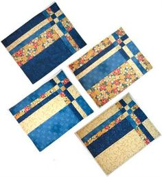 The Fabric Cupboard:  Love this pattern for quilted placemats