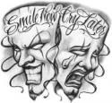 Smile Now Cry Later Jester Masks at BullseyeTattoos.com