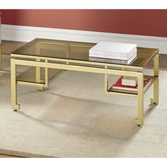 how is this only $80???? Coffee Table, Gold/Bronze from Midnight Velvet®