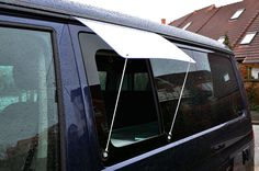 With the rain protection for the side window you can ventilate even when rainy weather. The rain cover is fitted within second to the awning channel and secured with bungee cords and suction cups against the wind. Auto Camping, Minivan Camping, Truck Camping, Camping Guide, Camping Stove, Camping And Hiking, Camping Hacks, Outdoor Camping, Camping Cabins