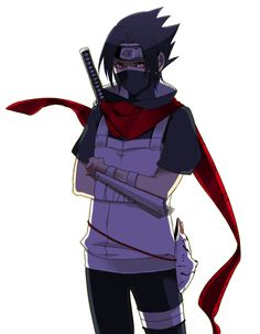 Sasuke Uchiha ANBU, but is that the NaruHina scarf? Naruto Uzumaki, Kakashi, Anime Naruto, Hinata, Sasuke And Itachi, Naruto Fan Art, Anime Oc, Fanarts Anime, Shikamaru