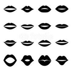 Vektor: Set of lips, vector illustration
