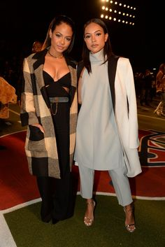 Christina Milian and Karrueche Tran Front Row at Tommy Hilfiger Fall 2015 [Photo by Steve Eichner]
