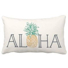 Aloha Hawaiian Pineapple Lumbar Pillow.  Take a look at even more by clicking the photo
