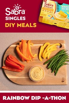 Fill your childs lunch box with meal options theyll love (yes, even the veggies) thanks to Sabra Singles. Kids cant deny the fun, delicious taste of our hummus—sized perfectly for packing. Try the Rainbow Dip-a-thon—a quick Healthy Snacks, Healthy Eating, Healthy Recipes, Fruit Snacks, Dinner Healthy, Healthy Kids, Fish Recipes, Gourmet Recipes, Recipies
