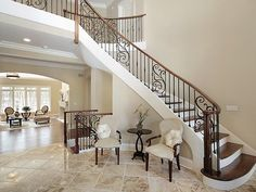 Beautiful bannister and stairs