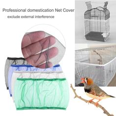 2018 New Unique Soft Nylon Airy Fabric Mesh Bird Cage Cover Shell Skirt Seed Catcher Guard Bird Supplies Easy Cleaning 3 Colors - Birds - Animals Bird Cage Covers, Easy Bird, Parrot Toys, Wooden Bird, Fabric Birds, Bird Cages, Bird Toys, Starling, Decoration