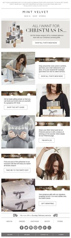 Christmas Survival Guide from Mint Velvet Holiday Emails, Email Design, Cool Outfits, Fashionable Outfits, Easy Gifts, Make A Wish, Christmas Shopping, Edm, Knitwear
