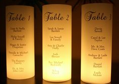 Seating Chart Luminarias  Unique Escort Card by thepaperynook, $4.25
