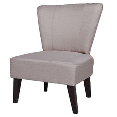 Alice Solid-color Fabric Accent Chair - Overstock™ Shopping - Great Deals on Living Room Chairs