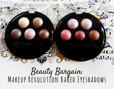 First Blog Post! Review of Makeup Revolutions £2.50 Baked Eyeshadow palettes #eyeshadow #makeup #makeuprevolution #bblogger #bbloggers #beautyblogger #pink #palette #brown #neutral #swatches #review #baked