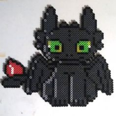 Toothless perler beads by photoprincess610