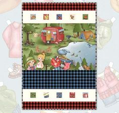 Paper Dolls On The Road by Siblings Arts Studio for Penny Rose Fabrics—Subscribe to our newsletter at http://www.rileyblakedesigns.com/newsletter/