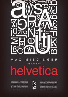 Helvetica - a Poster on Behance