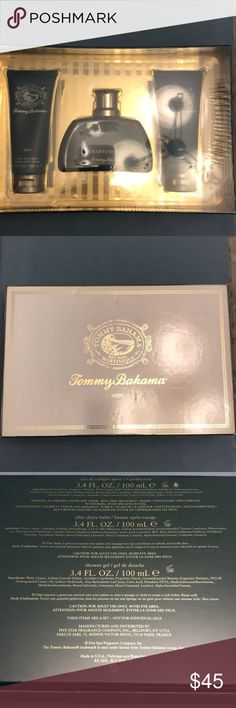 Tommy Bahama Martinique set Xmas is coming, great gift for hubby or someone very special. Set includes after shave balm shower gel and eau de cologne spray Tommy Bahama Other