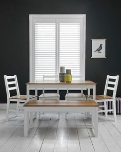 Dining Table 4 Chairs & Bench Dining Set in Choice of Colours Annika in Home, Furniture & DIY, Furniture, Tables | eBay!