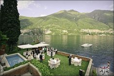 Lake Como Wedding Scene