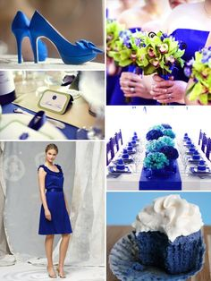 Royal blue wedding inspiration board.