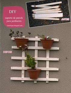 Casa e Fogão: Era lixo. Mas projetei um suporte de parede para jardineira