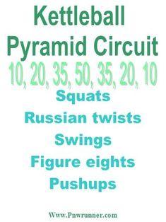Kettlebell pyramid circuit