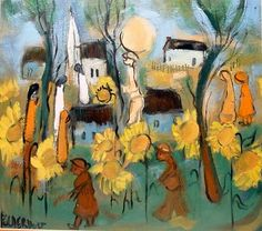 Going to church on Sunday African Colors, South African Artists, My Land, Landscape Art, Love Art, Arts And Crafts, Artsy, Diy Projects, Rainbow