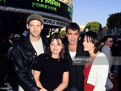 Anthony Edwards, Jeanine Lobell, George Clooney and guest