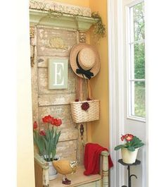 Love how the old door is being used!
