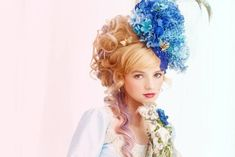 Amazing floral hat with butterflies ~~ such a talented designer!
