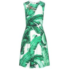 Dolce & Gabbana Printed Crêpe Dress (88 830 UAH) ❤ liked on Polyvore featuring dresses, green, green crepe dress, crepe dress, dolce gabbana dress and green dress
