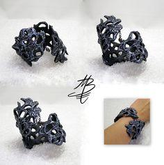 bracelet imitation metal, polymer clay jewelry by Martina Burianova, Czech Republic