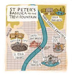 Kristyna Litten Rome Map