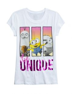 Be Unique Minion Graphic Tee
