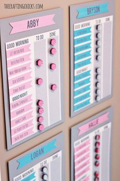 ease stressful morning and bedtime routine with these DIY routine charts for…
