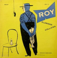 Album cover by David Stone Martin (1913-1992), 1952, Roy Eldridge Collates.
