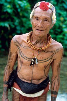 elder with tattoos