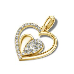 atjewels 18K Yellow Gold Over .925 Sterling Silver White…