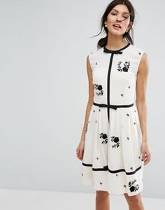 Ted Baker Bow Detail A Line Dress