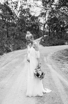 Bride Amanda in our Colette Dress xx #Bohemian #Boho #Bohobride #weddingdress #bohoweddingdress #beachbride #countrywedding #vintagewedding