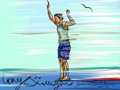 Bluebird - surf art by Andoni