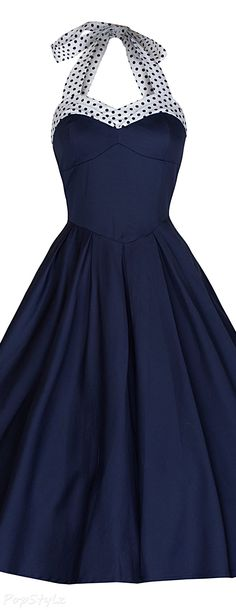 Lindy Bop 'Carola' Vintage 1950's Halter Swing Dress                                                                                                                                                                                 More