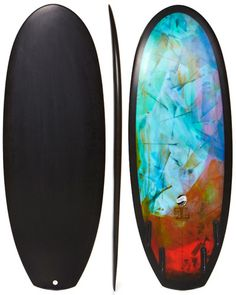 THOMAS SURFBOARDS PICCALO SURFBOARD - HALF CLEAR HALF ABSTRACT TINT